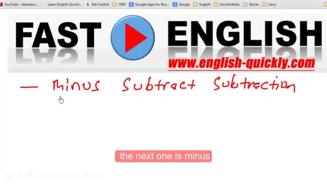 آموزش لغات تخصصی رشته ریاضی به زبان انگلیسی 3