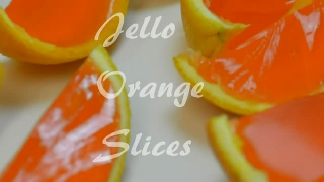 تهیه ژله با میوه How to Make Orange Jello Slices