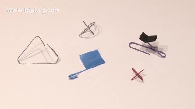 کارهای جالب که می توان با گیره کاغذی انجام داد