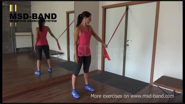 تمرین شماره 4- کششی تقویت عضلات سینه