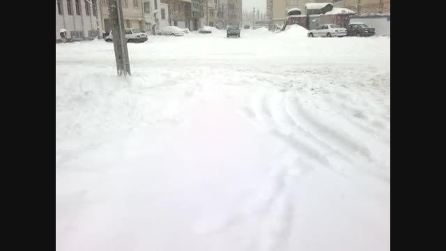 بارش برف در شهر اردبیل