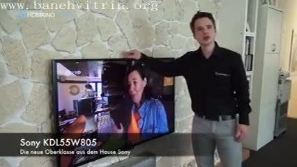 تلویزیون ال ای دی سه بعدی فول اچ دی اسمارت سونی w805