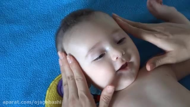 آموزش ماساژ صورت نوزاد