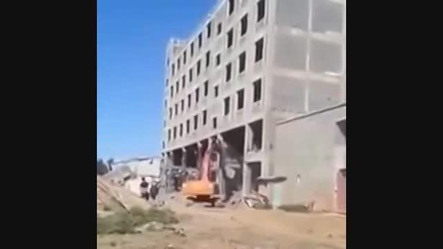 تخریب ساختمان از نوع ایرانی!