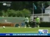 جلوگیری از درگیری بازیکنان پرتغال در تمرین