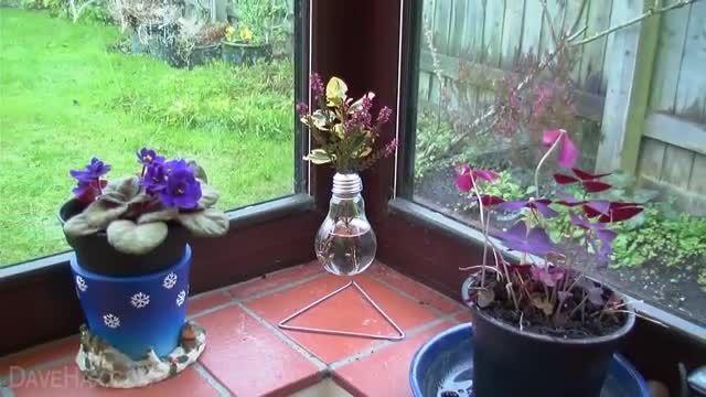 راهنمای ساخت گلدان led دار زیبا با لامپ سوخته