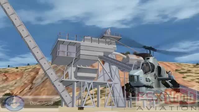 هلیکوپتر تهاجمی کبرا در شبیه ساز الماس