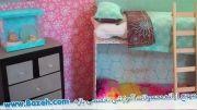 آموزش ساخت تختخواب برای خانه عروسک - آموزش دخترانه