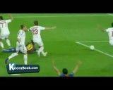 گل های بازی بارسلونا (3) - آث میلان (1) بازی برگشت