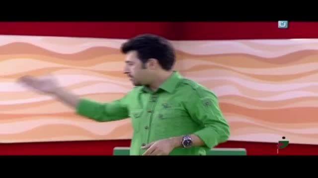 افتادن خنده دار هومن حاج عبداللهی روی صحنه خندوانه