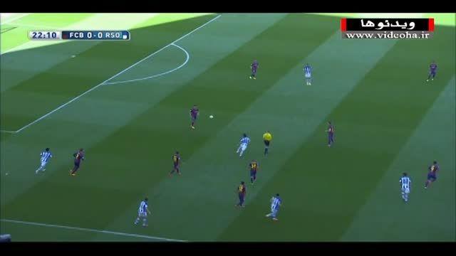 بارسلونا ۲-۰ رئال سوسیداد (گل فوق العاده پدرو)