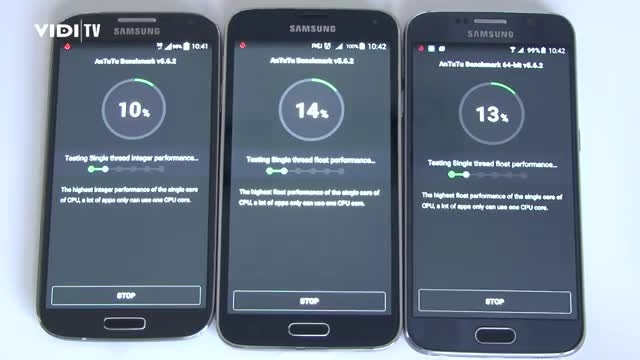 Samsung Galaxy S6 vs. S5 vs. S4_AnTuTu test