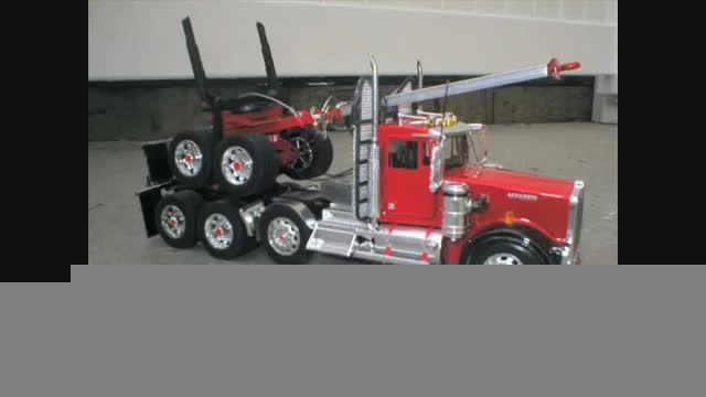 مشین مدل{ماکت کامیون حمل چوب}