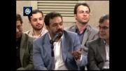 شعرخوانی محمود کریمی در محضر رهبر انقلاب