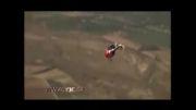 حرکات نمایشی خطرناک با هلیکوپتر.....