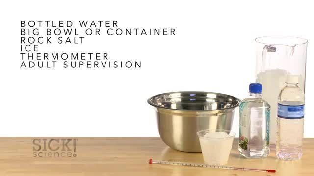 یخ زدن فوردی آب به کمک یخ و سنگ نمک.