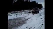 لندمارک در برف چاله آب