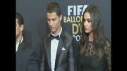 کریستین رونالدو و همسرش در مراسم بهترین بازیکن سال ۲۰۱۳