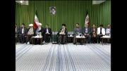 شعرخوانی ولی الله کلامی زنجانی در محضر رهبر انقلاب