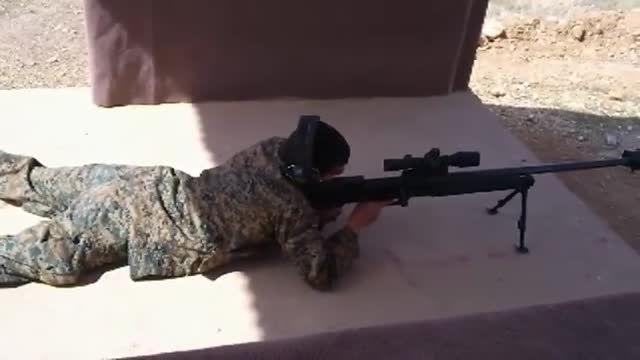 تک تیرانداز پیشرفته صیاد ۲ (صیاد 2=AR-50)+لحظه شلیک
