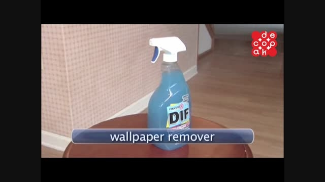 آموزش برداشتن کاغذ دیواری از روی دیوار
