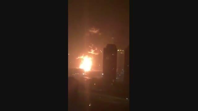 انفجار مهیب شهر تیانجین چین