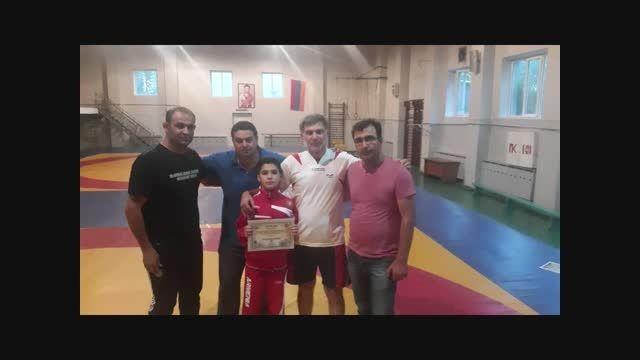 کسب مدال طلا سبحان چراغی در مسابقات کشتی فرنگی ارمنستان