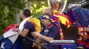 جشن خیابانی بارسلونا به مناسبت قهرمانی لالیگا 2013