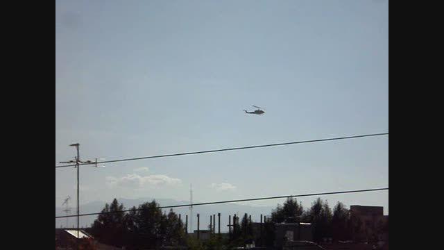 هلیکوپتر در آسمان خوی