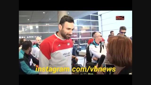 ورود تیم ملی والیبال ایران به لس آنجلس