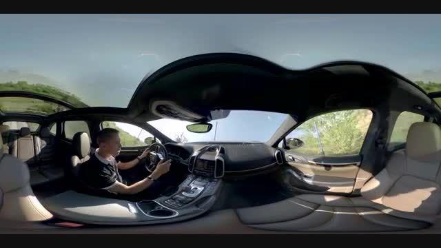 تجربه آف رود با پورشه Cayenne Turbo نمای 360 درجه