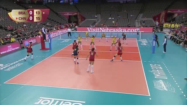 هایلایت والیبال زنان : چین VS برزیل