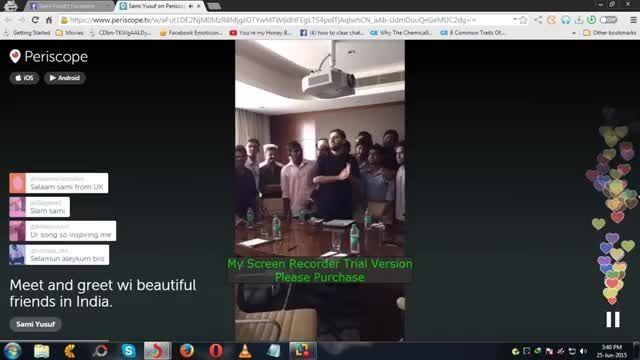 سامی یوسف- دیدار صمیمی با هواداران در هند(کوچی)- 2015