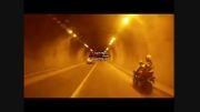 موتور سواری با moto GP در تونل