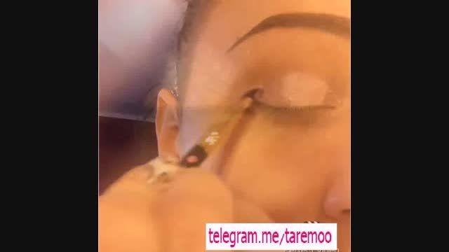 اموزش آرایش چشم با خط چشم زیبا در تارمو