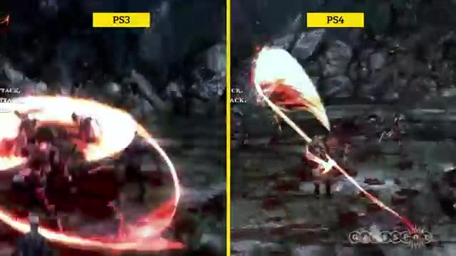 God of War 3 - PS3 vs PS4