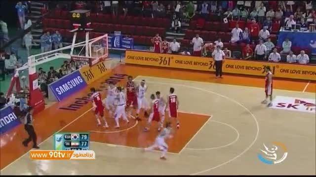 پیش بازی ۱/۴ بسکتبال قهرمانی آسیا: ایران و کره جنوبی
