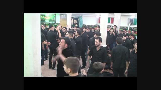 دسته سینه زنی مسجد امام حسین(ع)- قاسم محمودی- لبیك حسین