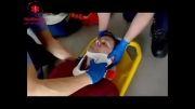 فیلم های اورژانسی - فیكس كردن ستون فقرات و حمل مصدوم