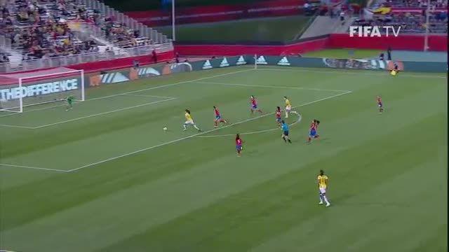 بازی : برزیل 1-0 کاستاریکا (جام جهانی زنان 2015 کانادا)