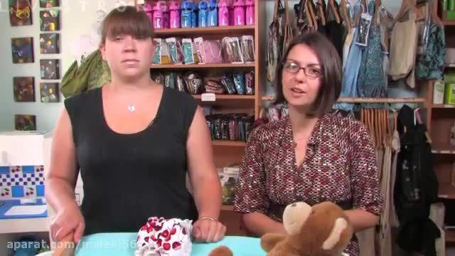 آموزش   پوشک کردن نوزاد با کهنه و لاستیک