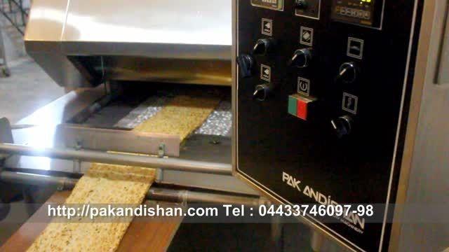 دستگاه فر تونلی پخت نان سنگک (با حرارت شعله غیر مستقیم)