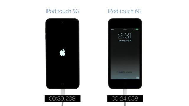 مقایسه سرعت iPod touch 5G vs. iPod touch 6G