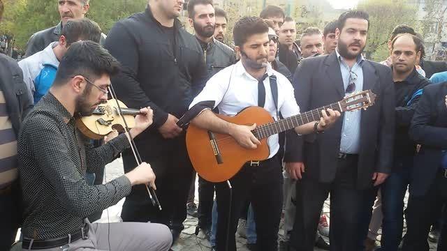 مجید خراطها-اجرای خیابانی -حمایت از کودکان کار