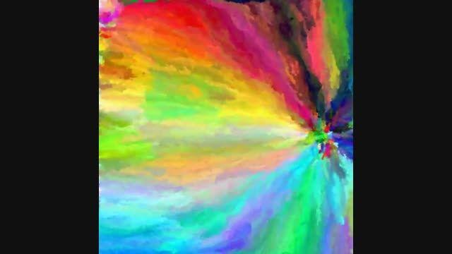 رنگین کمان دودی 17 میلیون رنگ