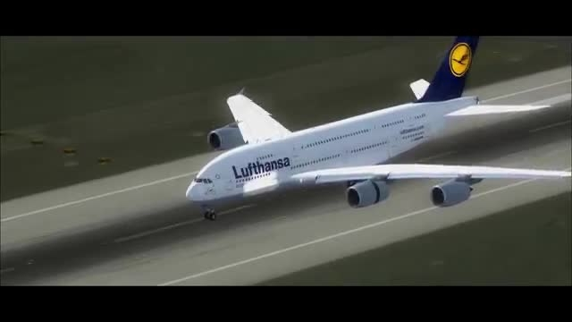 فرود ایرباس A380 در شبیه ساز الماس