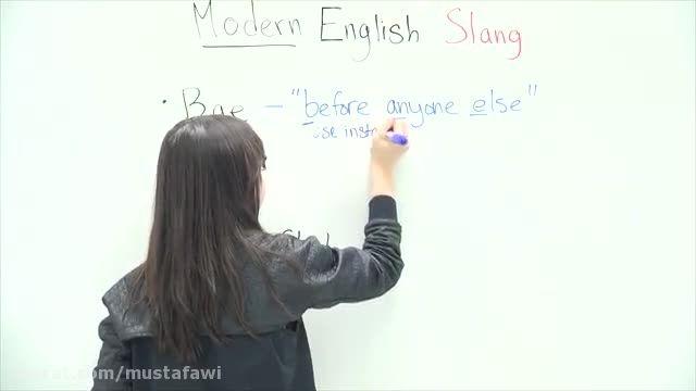 آموزش اسلنگ های زبان انگلیسی (Modern English slang)