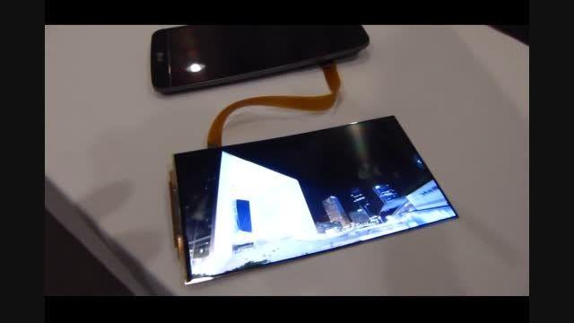 صفحه نمایش قابل انعطاف جی فلکس ساخت ال جی