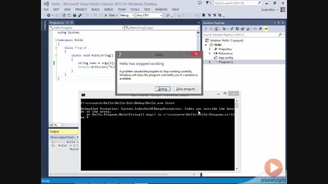 C#F_1.Introduction to C#_11.Debugging C#
