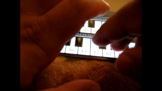 نرم افزار اندرویدی پیانو مجازی آهنگ جان مریم
